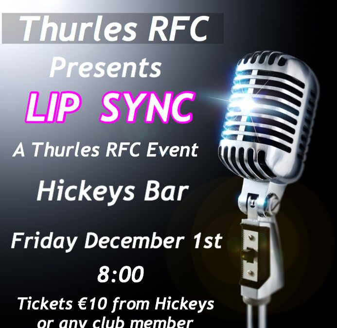Thurles RFC Lip Sync . Dec 1st, Hickeys Bar, Thurles