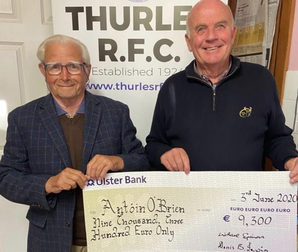 Antoin O Brien wins €9,200 TRFC Lotto Jackpot